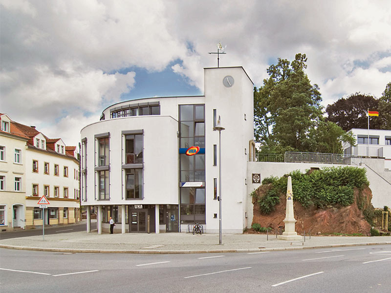 Building of the UKA administrative center in Meißen.