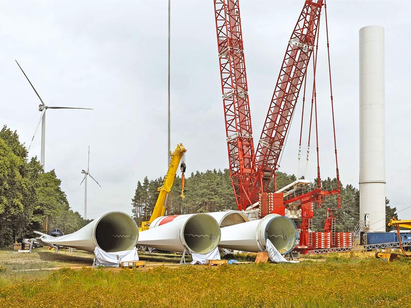 Repowering of a wind power plant